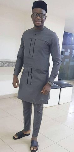 African Wear Styles For Men, African Shirts For Men, African Dresses Men, African Attire For Men, African Clothing For Men, African Fashion Ankara, African Style, African Women, Nigerian Men Fashion