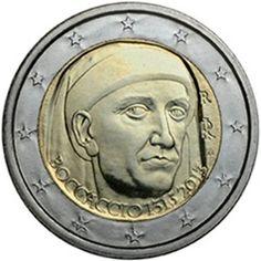 25 jul 2013 Moneda conmemorativa de 2 euros del 750 aniversario del nacimiento de Giovanni Boccaccio. Acuñacion 10.000.000