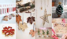 Ideas #DIY ecológicas y sostenibles para crear adornos de #Navidad únicos   Mundoikos Blog Ideas Decoracion Navidad, Ladder Decor, Diy, Blog, Xmas, Wreaths, Table Decorations, Home Decor, Terracotta Floor