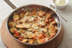 Sartén de calabacines a la parmesana receta
