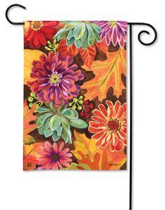 Autumn Cart Fall Garden Flag Flags On A Stick Blog Pinterest