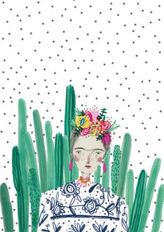 amyisla: FRIDA BUY HER HERE!! https://www.etsy.com/uk/listing/128783684/frida-kahlocactus-cacti-illustration?ref=shop_home_active_1