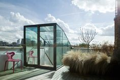 Glass Entrance to Rooftop Terrace