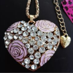 Betsey Johnson heart Puffy heart necklace Betsey Johnson Jewelry Necklaces