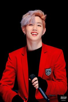 GOT7 | 151114 Fanmeet | red suit  |  Mark Tuan Got7 Mark Tuan, Kim Yugyeom, Youngjae, Bambam, Korean Bands, South Korean Boy Band, Most Beautiful People, Beautiful Men, L Kpop