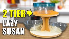 Making a TWO tier Lazy Susan. #woodworkingprojects #kitchenorganization