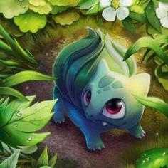 Pokemon art Bulbasaur- Hes soo cute and itsy bitsy!!! :D <3 I LOVE IT <3