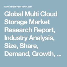 Global Multi Cloud Storage Market Research Report, Industry Analysis, Size, Share, Demand, Growth, Trends and Forecast to 2022