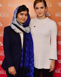 Malala and @EmmaWatson at the launch of the #IntoFilmFest today where they kicked off with a screening of HE NAMED ME MALALA!