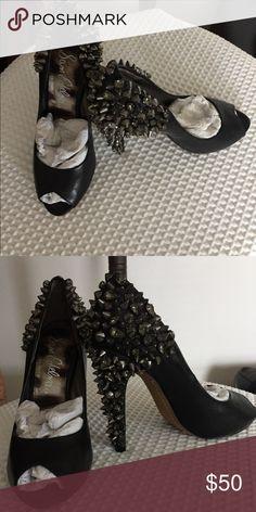 25e53256b70fd6 Sam Edelman - LARISSA PUMP Sam Edelman LORISSA Heel Peep Toe Pump Leather  Rhinestone Stud Spikes 6.5 Sam Edelman Shoes Heels