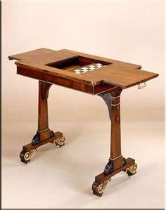 Regency style game table