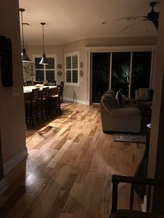 """Here is a hardwood floor (Mohawk Walden 5"""" Hickory Natural) we just installed for Bill & Veronica D. in Palm Beach Gardens."""