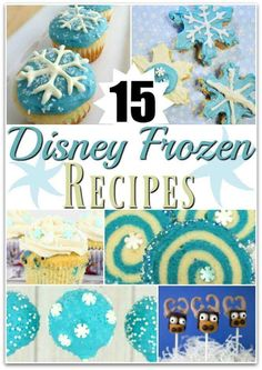 Disney frozen recipes and party food ideas Ahna, Elsa and Olaf fun food for kids.