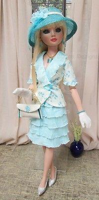 "OOAK Fashion for Ellowyne Wilde by Bccan Designs ""Lagoon Blues""   eBay. Sold for $50.95 on 6/11/14."