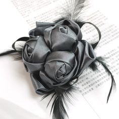 rosette feather corsage