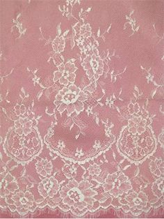 """CLST1A005WOBC Off White 3.2 yd Piece Chantilly French bridal lace. Amazing wedding dress lace. 15"""" border on both side. 55"""" overall width. Please note; ONLY AVAILABLE IN 3.2 YARD PIECES. ONE PIECE = 3.2 YARDS"""