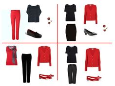 Imaginary shopping: extravagantly red