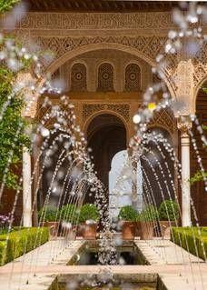 Patio de la Acequia. Alhambra de Granada