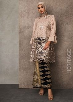 Ideas For Party Fashion Casual Simple Kebaya Modern Hijab, Model Kebaya Modern, Kebaya Hijab, Kebaya Muslim, Muslim Dress, Kebaya Lace, Kebaya Dress, Batik Kebaya, Hijab Dress