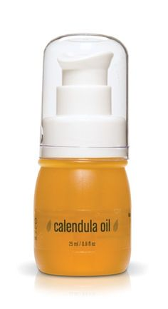 like Calendula Oil , $48.00, All skin types, especially sensitive and sunburned. Excellent additive to creams and body lotions.   A soothing oil formula treats irritated, sunburned, and/or excessive dry skin. Calendula softens, nourishes, and strengthens. Vitamin C clarifies and brightens. Vitamin E protects skin from damaging free radicals.  (http://www.hellobeautifulface.com/ilike-calendula-oil/)