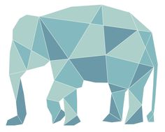 Geometric Elephant More