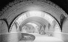 On Oct. 27, 1904 the first rapid transit subway, the Inter - borough Rapid Transit (I.R.T.) opened in New York City. The line ran approximately nine miles from City Hall north to Grand Central Station, then west to Times Square and up the West Side to 145th Street.