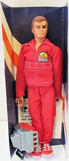 The Six Million Dollar Man - Toy Doll With Engine Block And Red NASA Suit #vintage #toys #collectibles