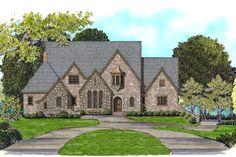 Tudor Style House Plan - 4 Beds 4.5 Baths 4412 Sq/Ft Plan #413-890 Exterior - Front Elevation - Houseplans.com