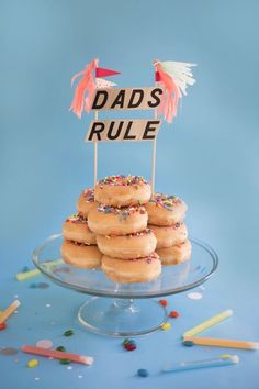 Father's Day Cake Toppers DIY