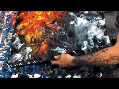 Up from Above - Fluid Abstract - Modern Art by Eric Siebenthal - YouTube