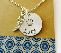 Rememberance Pet Necklace / Pet Memorial by UniquelyImprint