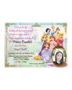 Disney Princess Birthday Invitation Card Maker Free baby shower