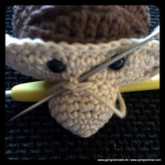 Kay Bojesen inspireret abe - Garn Grammatik Rope Basket, Crochet Toys, Cross Stitch Patterns, Diy And Crafts, Projects To Try, Homemade, Knitting, Inspiration, Accessories