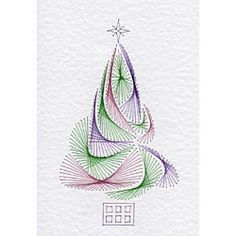 Christmas Tree | Christmas patterns at Stitching Cards.