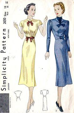 1930s Simplicity 2650