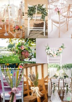 #Wedding Chair #Flower Ideas Mood Board from The Wedding Community