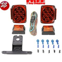 12V LED Trailer Light Kit LED  Light Kit MaxxHaul Stop/Tail/Turn Signal New #MaxxHaul