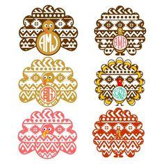 Turkey Aztec Svg Cuttable Designs | Apex Embroidery Designs, Monogram Fonts…