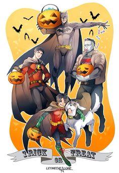 Superman=Batman, Kon=RedRobin, Bizzario= Red Hood, Jon=Robin ... Poor Dick, No Super Friend for you.