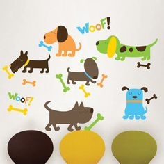WallPops! Wall Art Kit Puppy Love Wall Decal
