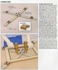 Shopmade Framing Clamp - Clamp and Clamping Tips, Jigs and Fixtures | WoodArchivist.com