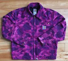 354db703c36 100% authentic Bape x Carhartt Purple Camo Supreme Jacket size Small   ABathingApe  BasicJacket