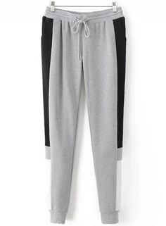 SheIn offers Color Block Tape Drawstring Sweatpants   more to fit your  fashionable needs. 4c3439e2a83a0