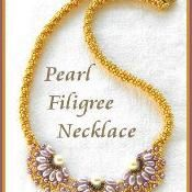 Pearl Filigree necklace - via @Craftsy