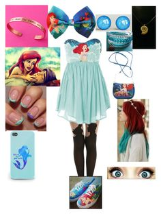 """""""The little mermaid"""" by dylanmolina ❤ liked on Polyvore featuring Disney and Wet Seal"""