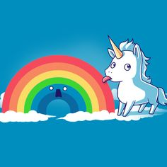 Tasty Rainbow - This t-shirt is only available at TeeTurtle! Exclusive graphic designs on super soft 100% cotton tees.