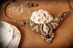 Collar o Tiara con piedra Fosil de coral de Mexico / Necklace