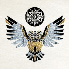 ▷ inspiring ideas and pictures about Owl Tattoo! - Another of our ideas for an owl tattoo here is a yellow golden flying owl - Hippe Tattoos, Owl Logo, Owl Tattoo Design, Geniale Tattoos, Owl Art, Graphic Design Illustration, Origami, Art Drawings, Art Prints