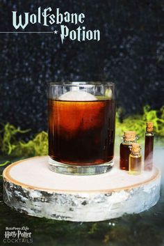 Wolfsbane Potion Serves 1  1.5 oz Scotch whiskey 1.5 oz Fernet-Branca Coca-Cola  Combine Scott and Fernet in a shaker with ice and stir vigorously for 20 seconds, until fully chilled. Strain into a rocks glass with a large ice cube.* Top with cola, to taste.