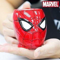 3D Spiderman Mug Official Marvel Comics Novelty Beverage Tea Coffee Mug Gift   eBay